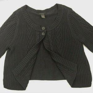 Lane Bryant Sweaters - Lane Bryant 18/20 Black Knit Sweater Cardigan